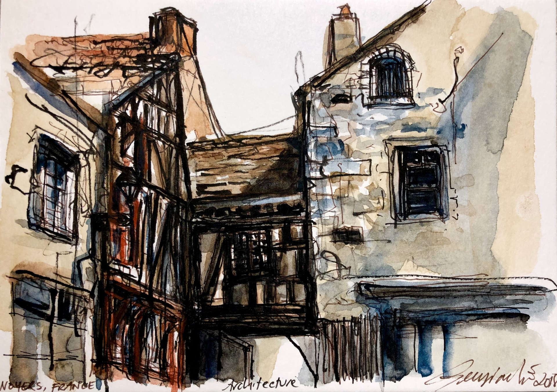 Noyers France Architecture (SOLD)